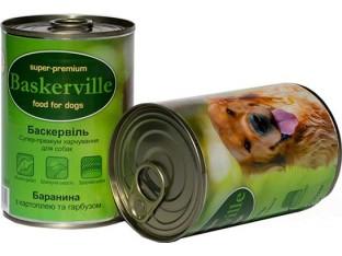 Baskerville (Баскервиль) консервы для собак 400гр баранина,картофель,тыква