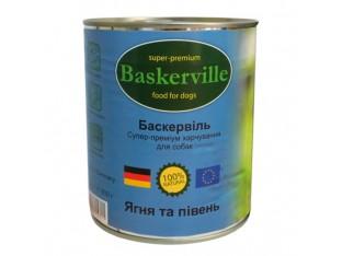 Baskerville (Баскервиль) консервы для собак 400гр ягненок,петух