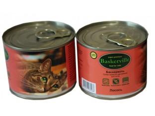 Baskerville (Баскервиль) консервы для кошек 200гр лосось