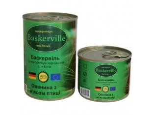 Baskerville (Баскервиль) консервы для кошек 200гр оленина, курица