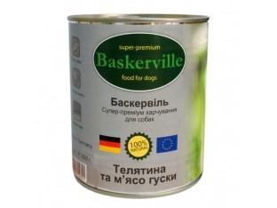 Baskerville (Баскервиль) консервы для собак 400гр телятина,гусь