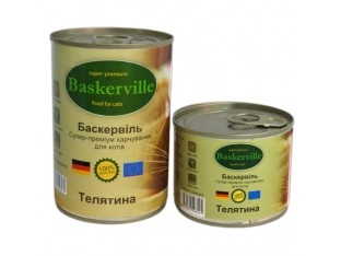 Baskerville (Баскервиль) консервы для кошек 200гр телятина