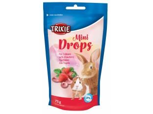 """Лакомство для грызунов """"Mini Drops""""(клубника) 75гр Trixie 60334"""