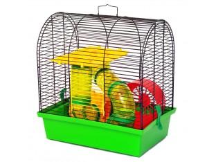 """Клетка для грызунов """"Бунгало 2 люкс"""" КЛ 009 33х23х36см. окрашенная"""