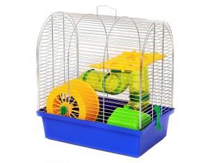 """Клетка для грызунов """"Бунгало 2 люкс"""" КЛц 009 33х23х36см. оцинкованная"""