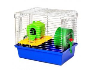 """Клетка для грызунов """"Хомяк 1 люкс"""" КЛц 014 33х23х29см. оцинкованная"""