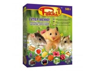 """Супер-меню """"Рокки-1"""" для грызунов 500гр"""
