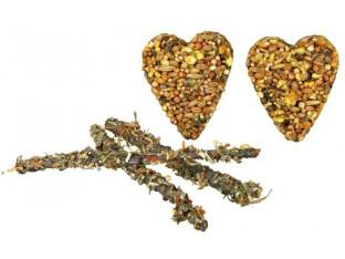Сердечки из зёрен с ветками яблони для грызунов 2шт/65гр Trixie 60316