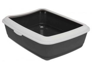 """Туалет для кота """"Classic"""" Trixie 40312 темно-серый/светло-серый"""