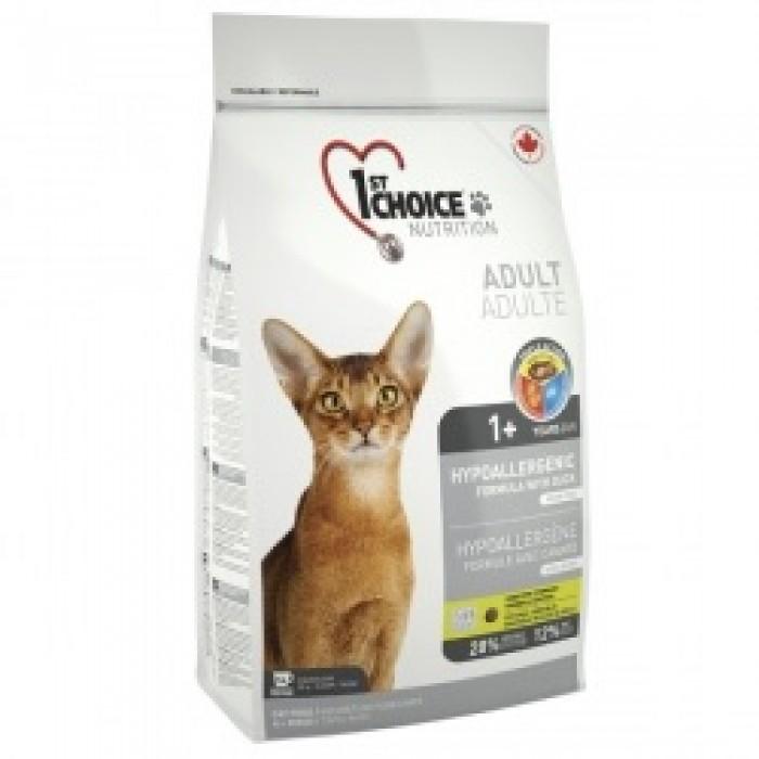 1st Choice (Фест Чойс) Hypoallergenic с уткой сухой корм для кошек 2,72 кг