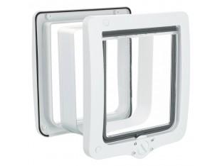 Дверца XL с тонеллем для кота белая Trixie 44241