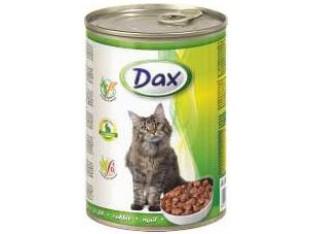 DAX кролик консервы для кошек 415 гр.