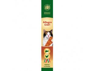 Allegro Cat мясные палочки с курицей и печенью для кошек 1шт