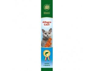 Allegro Cat мясные палочки с лососем и форелью для кошек 1шт