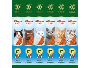 Allegro Cat мясные палочки с лососем и форелью для кошек 6шт (уп)