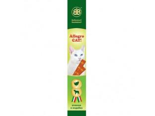 Allegro Cat мясные палочки с ягненком и индейкой для кошек 1шт