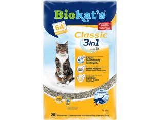 Бентонитовый наполнитель Biokats Classic 3в1 10 кг