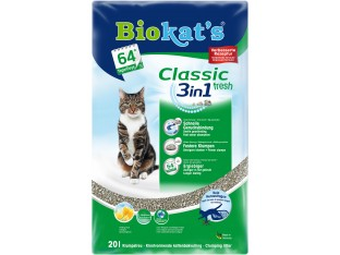 Бентонитовый наполнитель Biokats Classic Fresh 3в1 10 кг