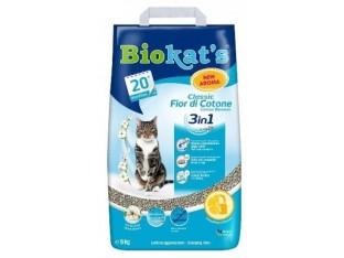 Бентонитовый наполнитель Biokats Fior di Cotton 3in1 10кг