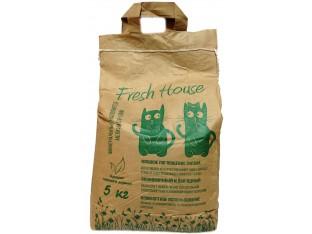 Бентонитовый наполнитель Fresh House зеленый мелкий 0,8-1,6мм