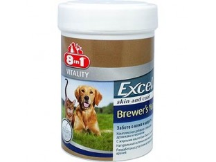 8 in 1 Excel Brewer's Yeast витамины для кожи и шерсти собак 140 тб
