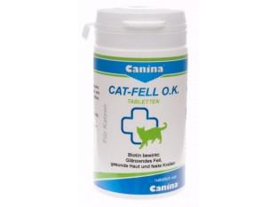 Canina Cat-Fell O.K. витаминная добавка для кожи и шерсти кошек 100тб