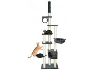 Домик-когтеточка для кошек Madrid 68x44x245-270см Trixie 43901 бежевая