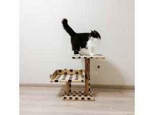 Двухэтажная когтеточка для кошек 50x30x55см Пушистик бежевый