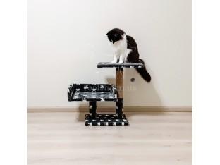 Двухэтажная когтеточка для кошек 50x30x55см Пушистик серый