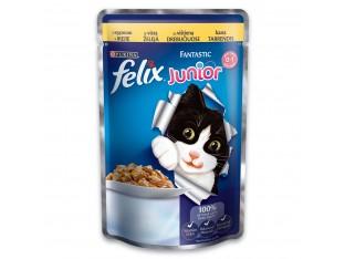 Felix Junior с курицей для котят