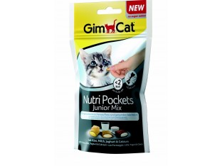 GimCat Nutri Pockets Junior Mix хрустящие подушечки для котят 60гр