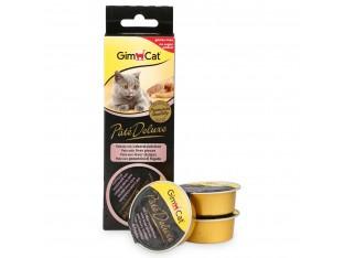 GimCat Pate Deluxe паштет с кусочками печени для кошек 3x21гр