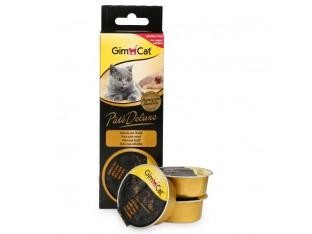 GimCat Pate Deluxe паштет с телятиной для кошек 3x21гр