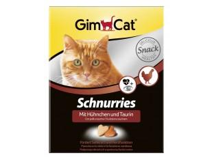 Gimpet Schnurries сердечки с курицей и таурином для кошек 650шт/420гр