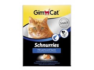 Gimpet Schnurries сердечки с лососем и таурином для кошек 650шт/420гр