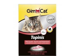 Gimpet Topinis с творогом и таурином витамины для кошек 190шт.