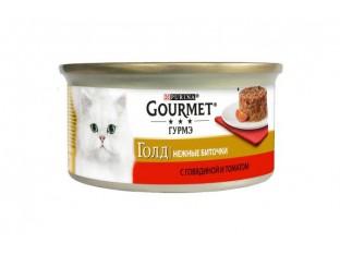 Gourmet Gold нежные биточки с говядиной и томатами 85гр