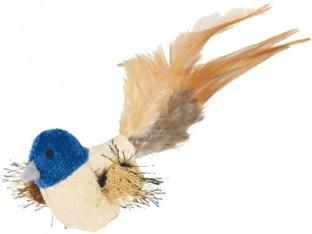 Игрушка для кошек птица плюшевая с перьями 8см Trixie 45765