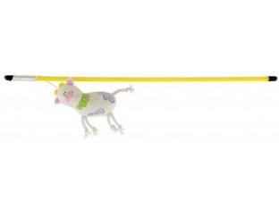 Игрушка для кошек Удочка Волшебная корова 47см Trixie 45800