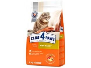 Клуб 4 лапы с кроликом для взрослых кошек 2 кг
