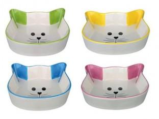 Миска для кошек в форме кошачей головы Trixie 24494
