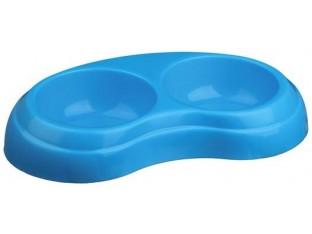 Миска двойная пластиковая для кошек Trixie 24967