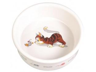 Миска керамическая для кошек 200мл/11см Trixie 4007