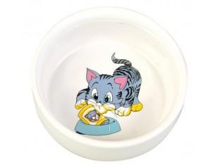 Миска керамическая для кошек 300мл/11см Trixie 4009