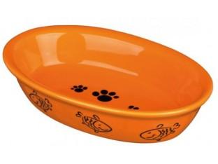 Миска керамическая овальная для кошек 0,2л/15х10см Trixie 24495