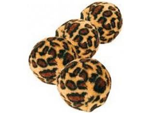 Мяч для кошек леопардовый звенящий 4см Trixie 4109 1уп/4шт