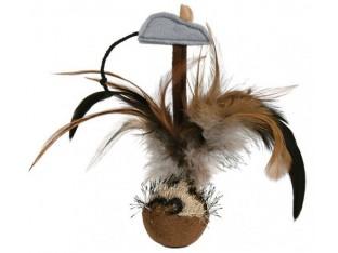 Мяч-неваляшка с перьями для кошек 15 см Trixie 45730