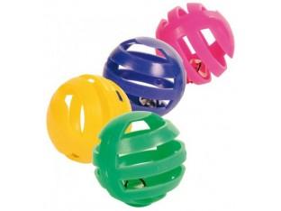 Мяч с колокольчиком (пластик) для кошек 4см (4шт) Trixie 4521