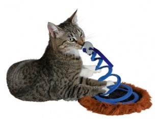 Мышь на пружине для кошек 20х25см Trixie 4568