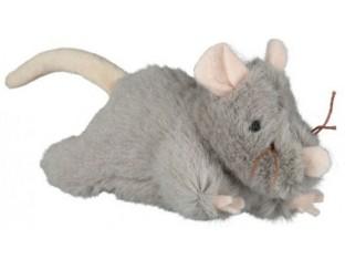 Мышь с пищалкой для кошек 15см Trixie 45788